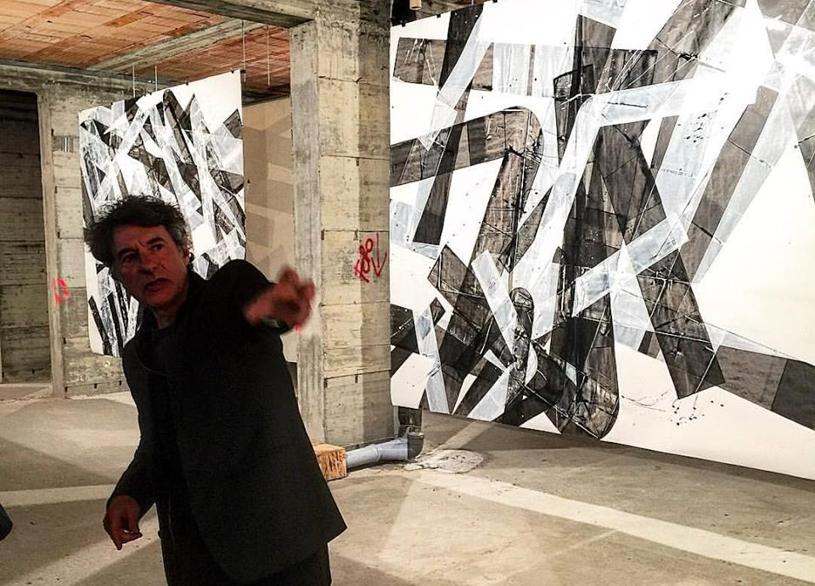 Pippo Lionni, BIG PAINTINGS, CASA DELL'AMBIENTE, 2015, photo Alessandro