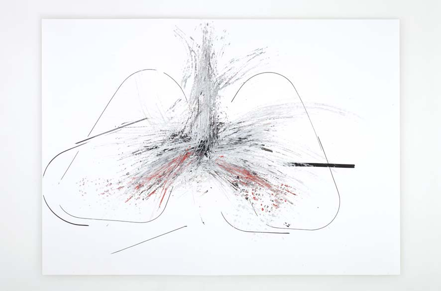 PIPPO LIONNI, BREAKTHROUGH 42, 2012, acrylic on 220g paper, 50x70cm