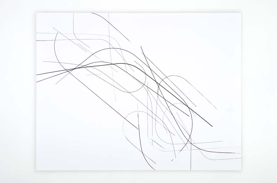SINGULARITY 258, 2012, acrylic on 200g paper, 50x65cm