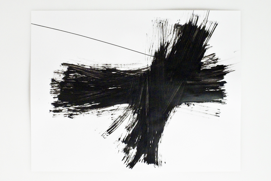 Pippo Lionni, BREAKTHROUGH 70, 2012, acrylic on 200g paper, 50x65cm
