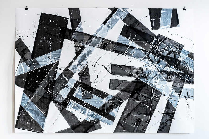 Pippo Lionni, 20151214, 48°02°, acrylic on 300g paper, 140x200cm