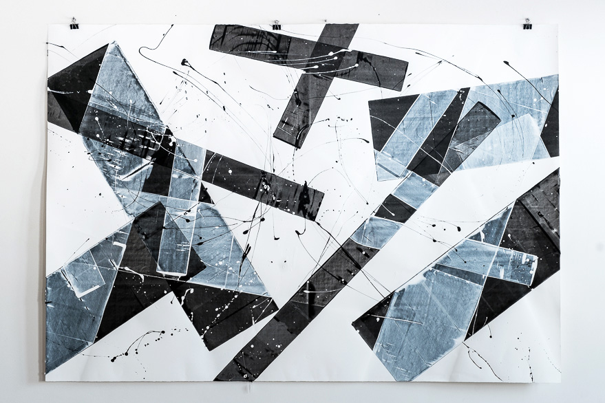 Pippo Lionni, 20151216, 48°02°, acrylic on 300g paper, 140x200cm