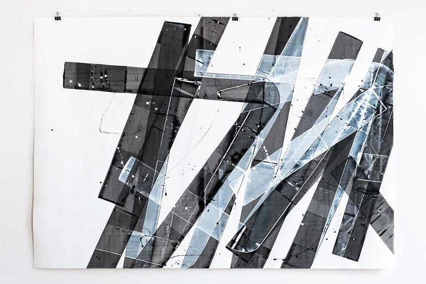 Pippo Lionni, 20151219, 48°02°, acrylic on 300g paper, 140x200cm