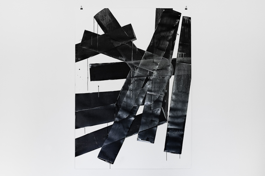 Pippo Lionni, UNTITLED 626, 2014, 59°18°, acrylic on 300g paper, 140x100cm