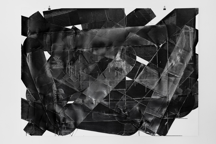 Pippo Lionni, UNTITLED 634, 2014, 59°18°, acrylic on 300g paper, 100x140cm