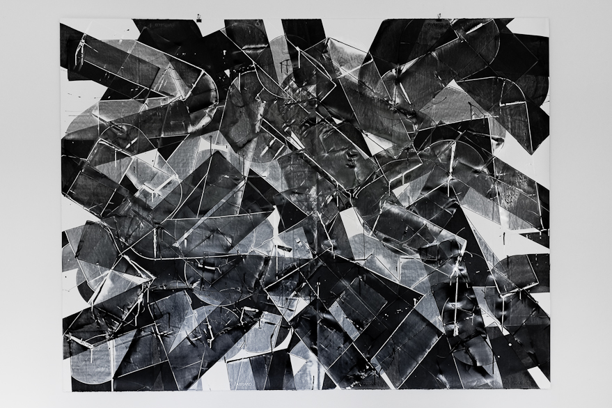 Pippo Lionni, UNTITLED 635, 2014, 59°18°, acrylic on 300g paper, 140x186cm