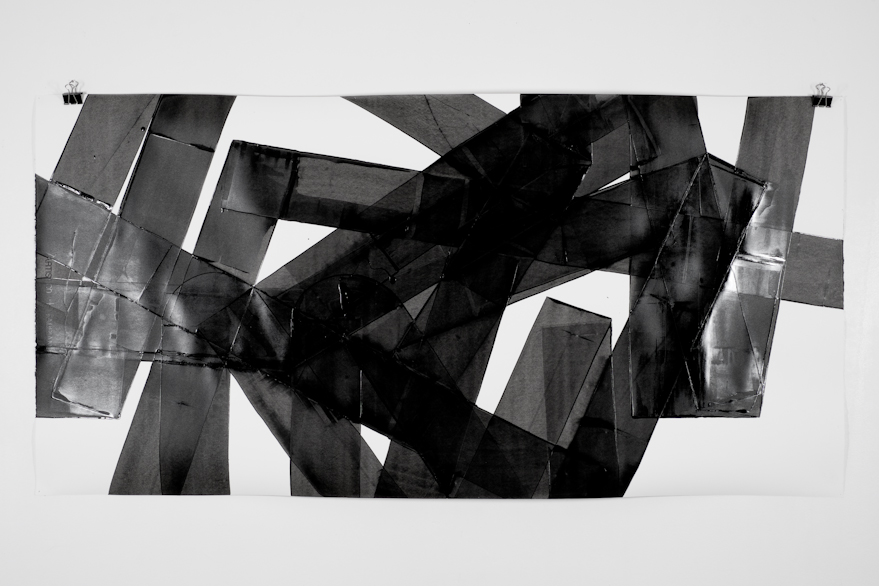 Pippo Lionni, UNTITLED 559, 2014,acrylic on 300g paper, 70x140cm
