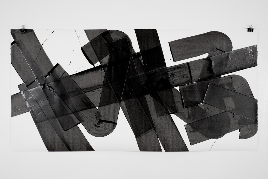 Pippo Lionni, UNTITLED 563, 2014,acrylic on 300g paper, 70x140cm