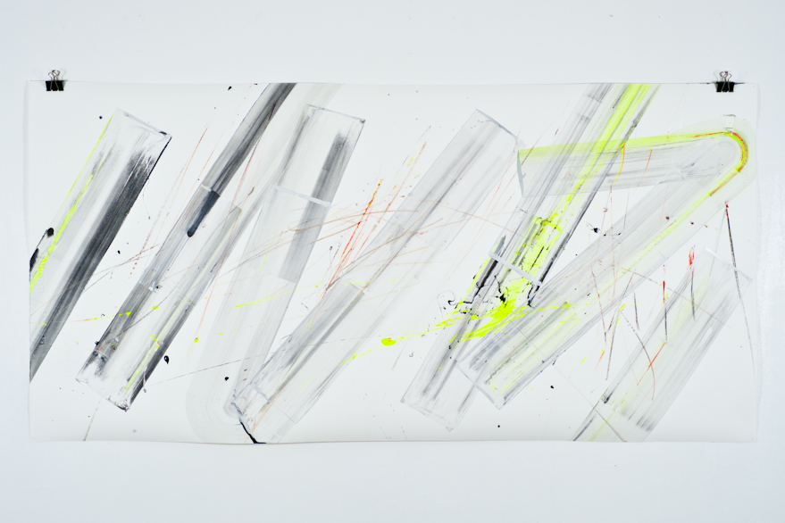 Pippo Lionni, UNTITLED 567, 2014,acrylic on 300g paper, 70x140cm