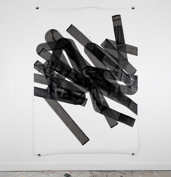 Pippo Lionni, UNTITLED 582, 2014, acrylic on 300g paper, 200x140cm
