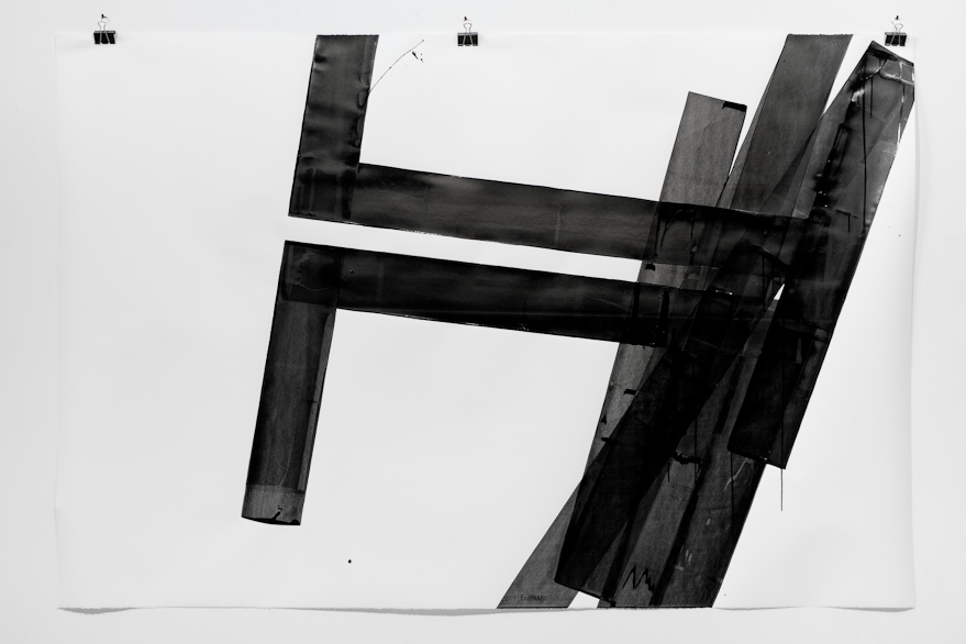 Pippo Lionni, UNTITLED 638, 2014, 43°11°, acrylic on 300g paper, 140x210cm