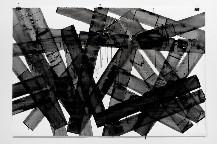 Pippo Lionni, UNTITLED 639, 2014, 43°11°, acrylic on 300g paper, 140x210cm