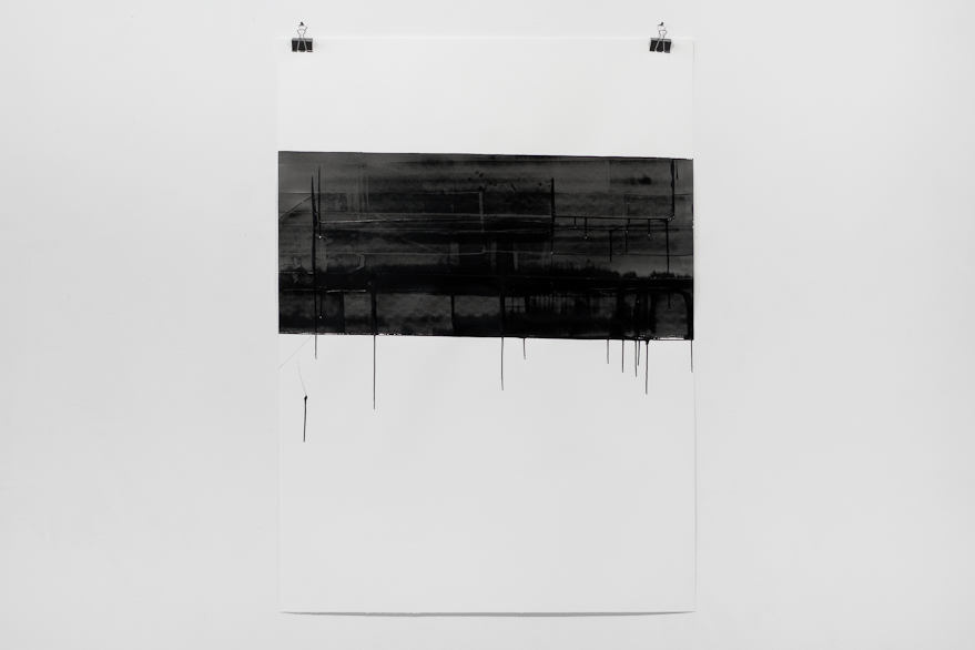Pippo Lionni, UNTITLED 643, 2014, 43°11°, acrylic on 300g paper, 140x100cm