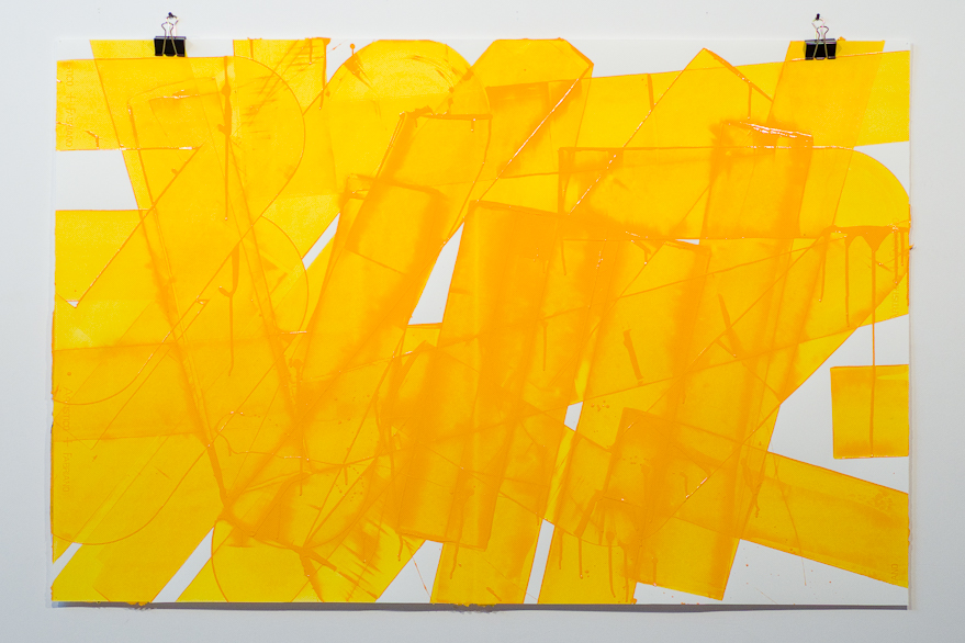 Pippo Lionni, UNTITLED 645, 2014, 43°11°, acrylic on 300g paper, 92x140cm