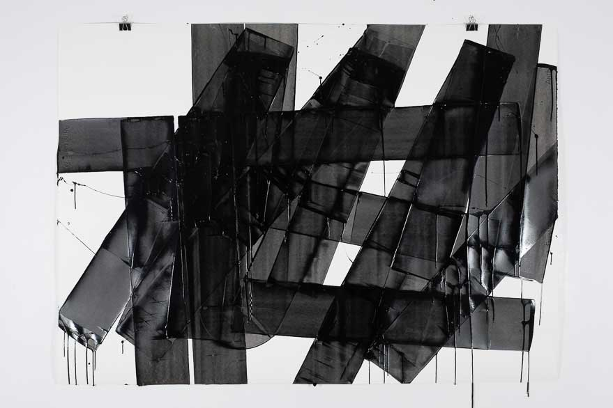 Pippo Lionni, UNTITLED 654, 2014, 48°02°, acrylic on 300g paper, 100x140cm