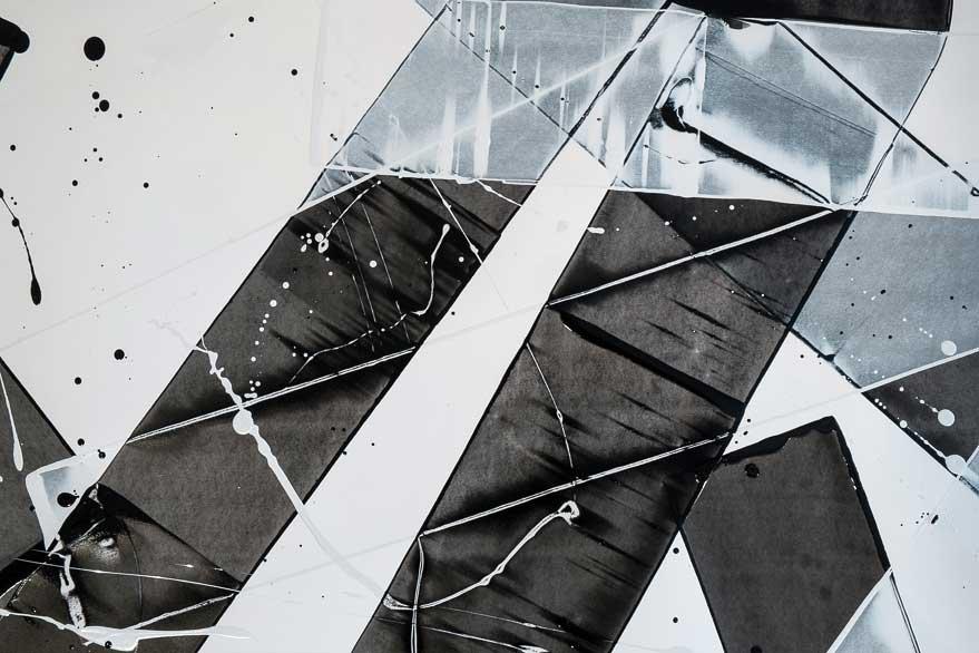 Pippo Lionni,  20150226,48°02°, acrylic on 300g paper, 140x202cm