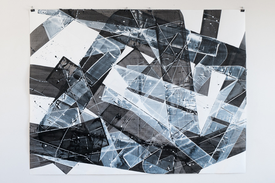 Pippo Lionni, 20150407, 48°02°, acrylic on 300g paper, 140x185cm