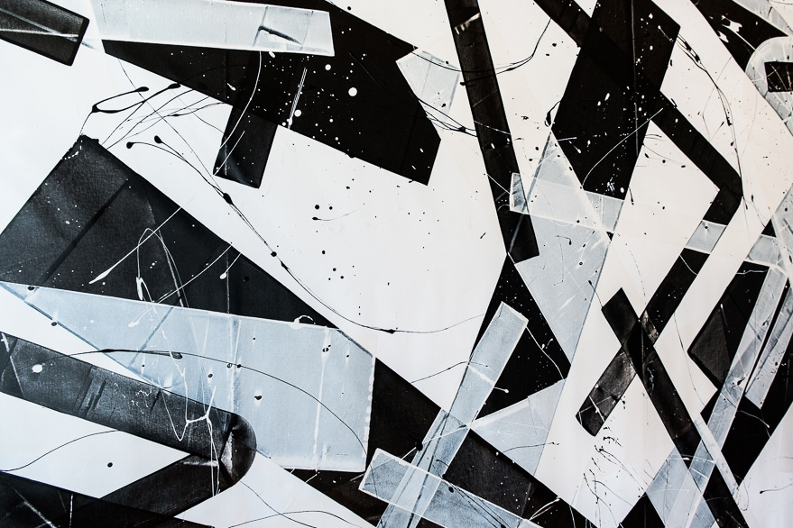 Pippo Lionni, 20150804, 59°18°, acrylic on canvas, 210x500cm, detail