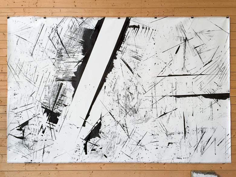Pippo Lionni, 20160712 59°18°, acrylic on canvas, 210x330cm