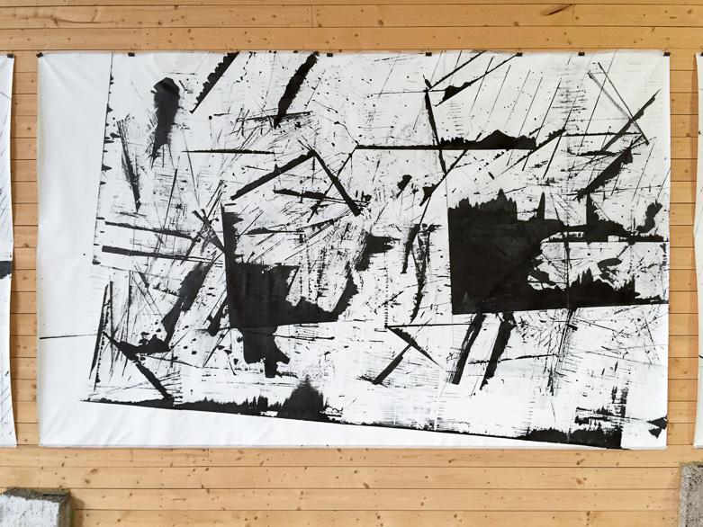 Pippo Lionni, 20160717 59°18°, acrylic on canvas, 210x330cm
