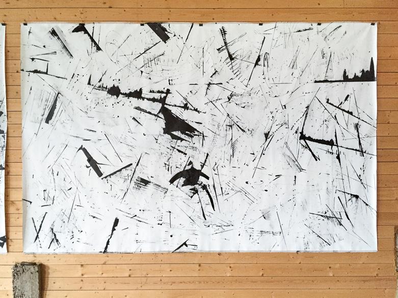 Pippo Lionni, 20160719 59°18°, acrylic on canvas, 210x330cm