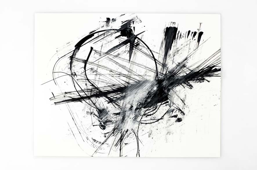 Pippo Lionni BACKLASH 12, 2011, acrylic on 200g paper, 50x65cm