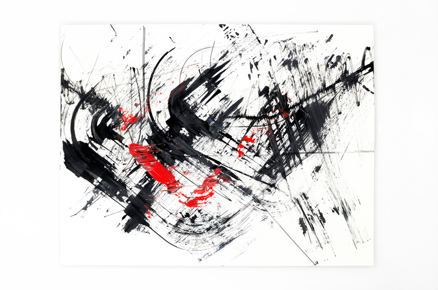 Pippo Lionni BACKLASH 23, 2011, acrylic on 200g paper, 50x65cm