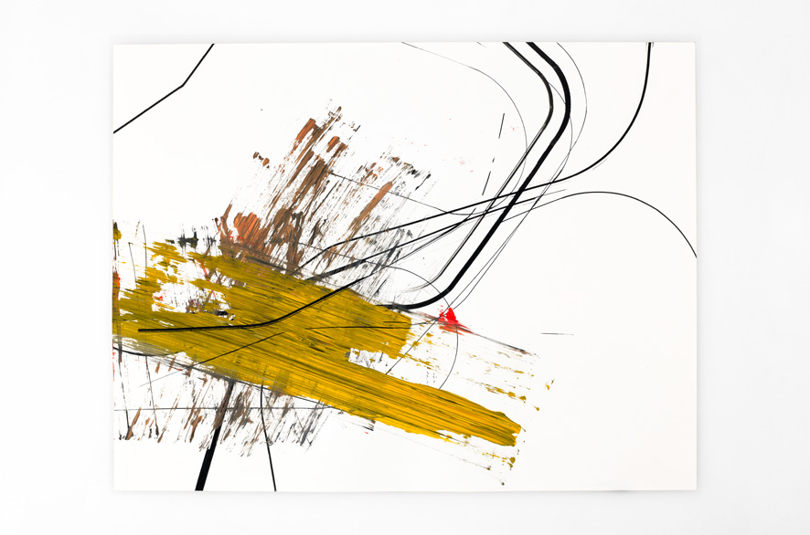 Pippo Lionni BACKLASH 24, 2011, acrylic on 200g paper, 50x65cm