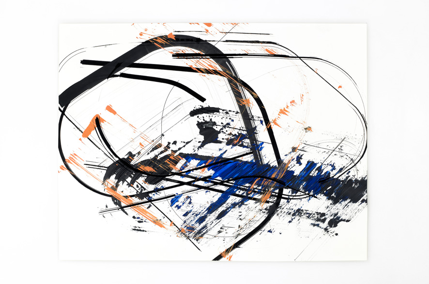 Pippo Lionni BACKLASH 5, 2011, acrylic on 200g paper, 50x65cm