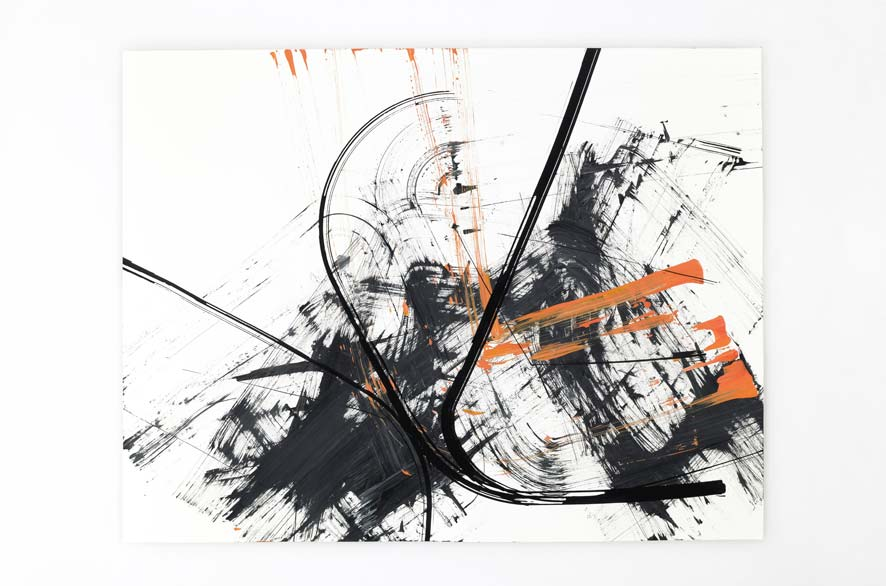 Pippo Lionni BACKLASH 6, 2011, acrylic on 200g paper, 50x65cm