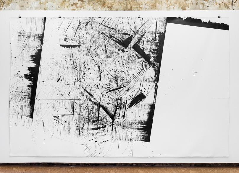 Pippo Lionni, 20160420, 41°-74°, acrylic on canvas, 203x325cm