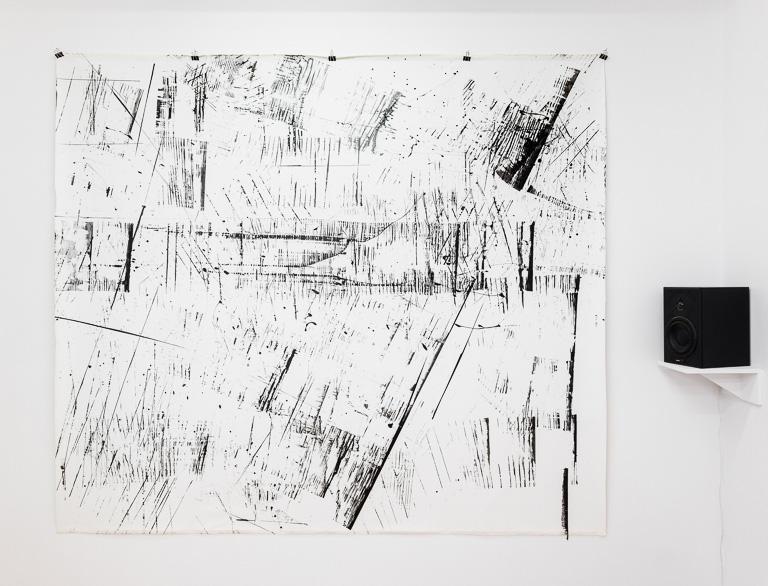 Pippo Lionni, 20160414, 41°-74°, acrylic on canvas, 203x251cm