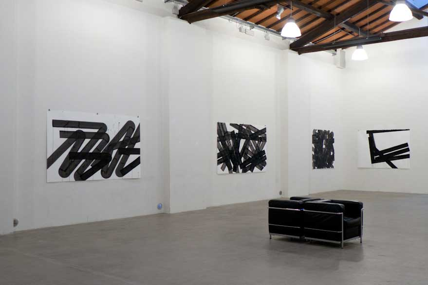 Pippo Lionni, FRACTURED SPACE, MAGAZZINO 1B, PRATO ITALY, 2014, main room right