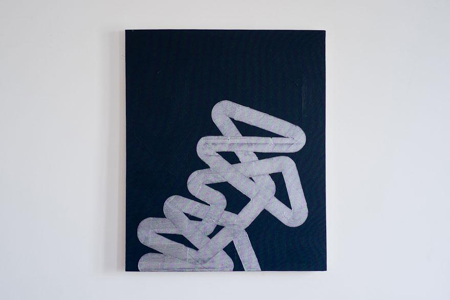 Pippo Lionni, UNTITLED 201, 2013,acrylic on canvas, 65x54cm