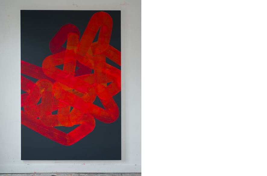 Pippo Lionni, UNTITLED 213, 2013, acrylic on canvas, 195x130cm