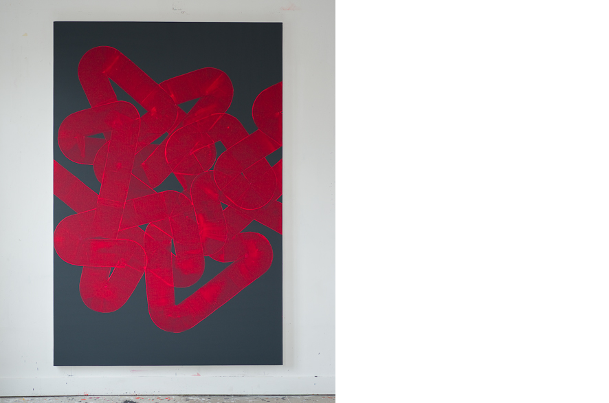 Pippo Lionni, UNTITLED 214, 2013, acrylic on canvas, 195x130cm
