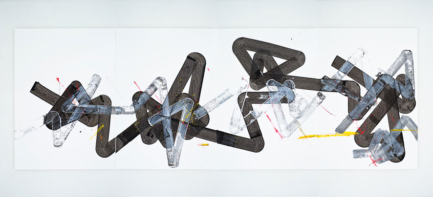 Pippo Lionni, UNTITLED 271, 2013,acrylic on 220gpaper, 70x200cm