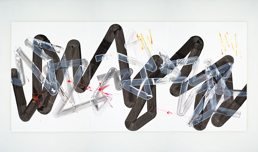 Pippo Lionni, UNTITLED 275, 2013,acrylic on 220gpaper, 70x150cm