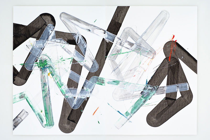 Pippo Lionni, UNTITLED 278, 2013,acrylic on 220gpaper, 70x100cm