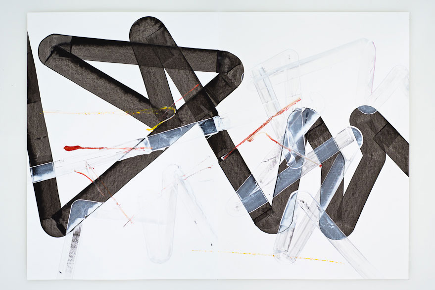 Pippo Lionni, UNTITLED 279, 2013,acrylic on 220gpaper, 70x100cm