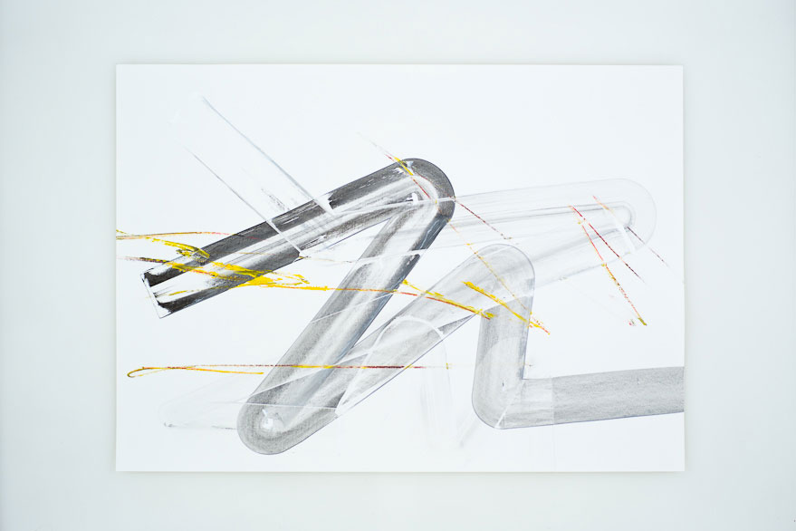 Pippo Lionni, UNTITLED 318, 2013, acrylic on 220g paper, 50x70cm