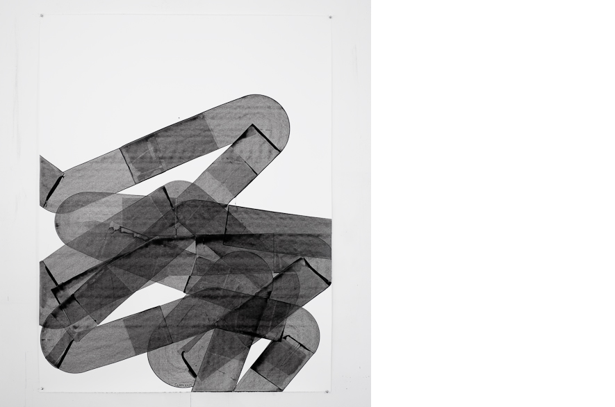 Pippo Lionni, UNTITLED 334, 2013, acrylic on 300g paper, 140x109cm