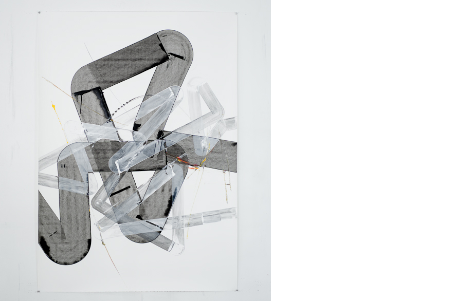 Pippo Lionni, UNTITLED 338, 2013, acrylic on 300g paper, 140x100cm