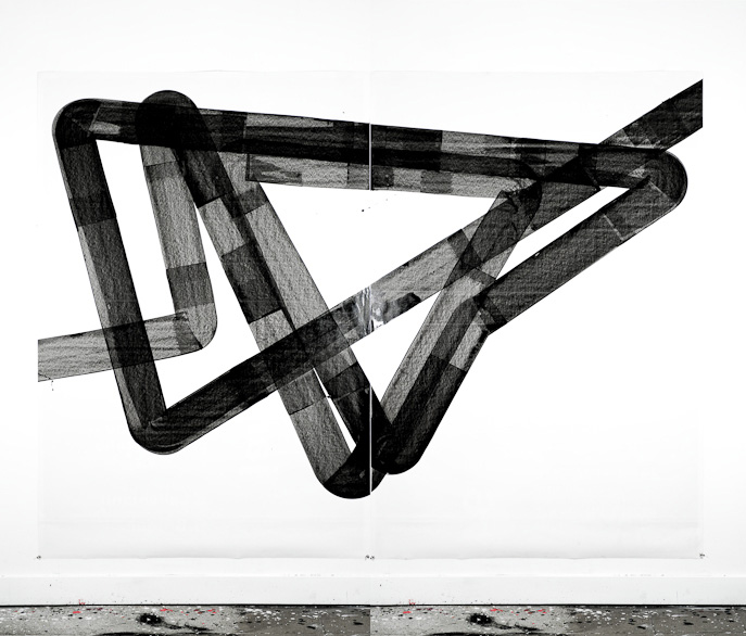 Pippo Lionni, UNTITLED 403, 2013, acrylic on paper, 170x240cm