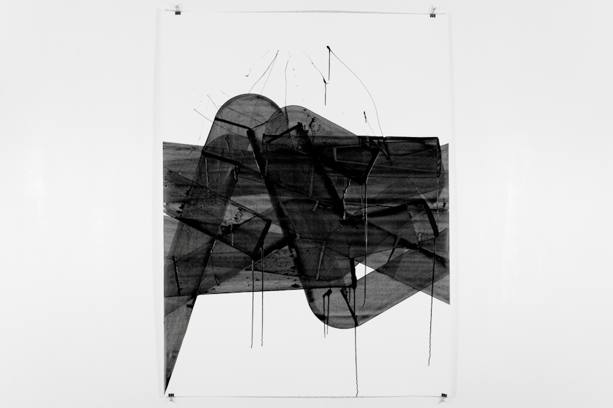 Pippo Lionni, UNTITLED 472, 48°2°, 2013, acrylic on 300g paper, 140x105cm