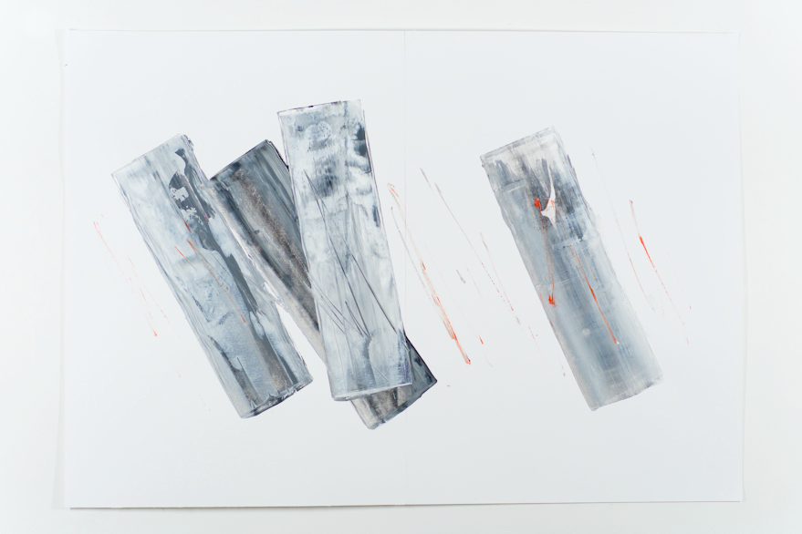 Pippo Lionni, UNTITLED 492, 48°2°, 2013, acrylic on 220g paper, 70x100cm