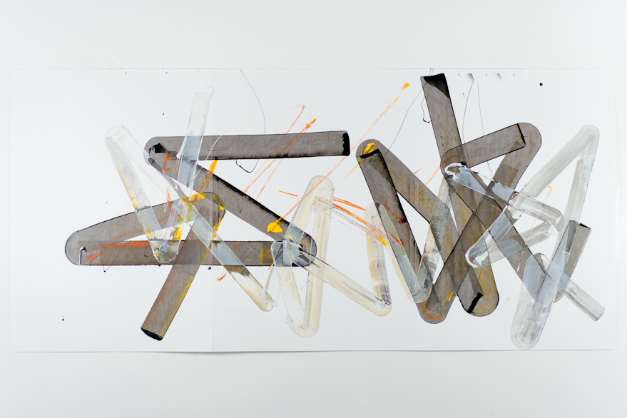 Pippo Lionni, UNTITLED 500, 2013, acrylic on 220g paper, 70x150cm