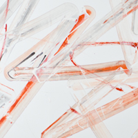 Pippo Lionni, UNTITLED 505, 48°2°, 2013, acrylic on 220g paper, 70x150cm