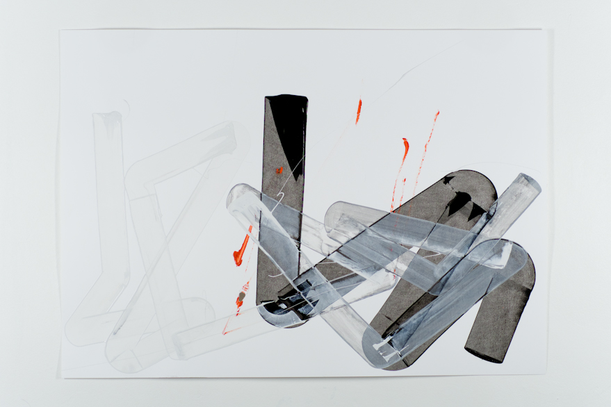 Pippo Lionni, UNTITLED 509, 48°2°, 2013, acrylic on 220g paper, 50x70cm