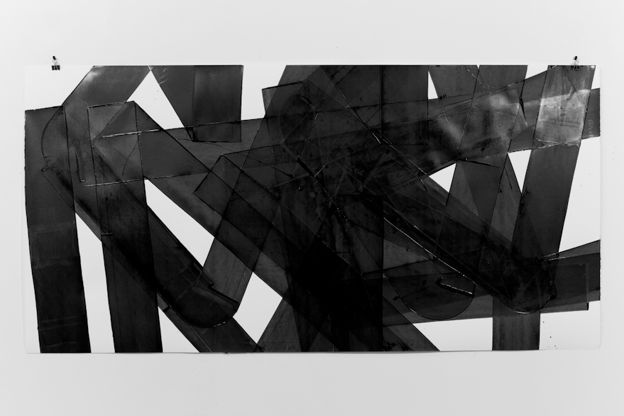 Pippo Lionni, UNTITLED 554, 2014, acrylic on 300g paper, 70x140cm